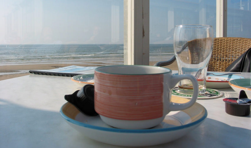 Portugal Realty coffee at the beach